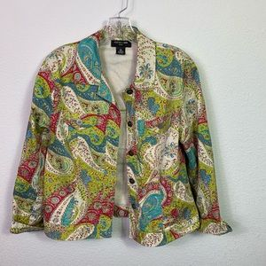 Focus 2000 paisley multicolored jacket.